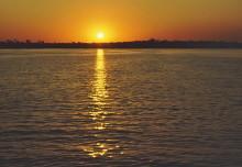 Sonnenuntergang auf dem Zambesi