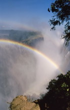 Schöne Regenbögen in Zambia, 4.4.1988