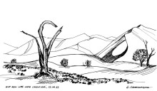 Fahrt zum Sossusvlei - die Elim Düne, 12.4.1993