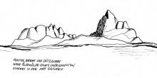 Die Pontok Berge mit der Spitzkoppe, 15.4.1993