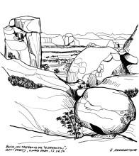 Blick auf den Erongo vom Elefanten,17.4.1993