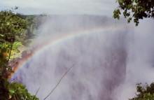 Gischt und Regenbogen