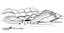 Pad nach Swakopmund bei Solitaire,12.9.1999