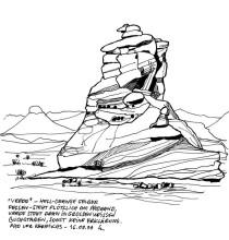 """Der """"Frieden"""" Felsen auf dem Weg nach Khorixas, 16.9.1999"""