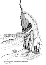 Blick von der Fingerklippe zur Lodge, 17.9.1999
