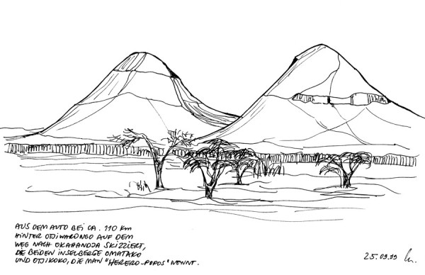 Die Omatako Berge, 25.9.1999