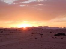 Sonnenaufgang auf Wüstenquell, 17.11.03