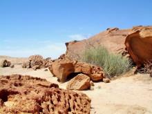 Löchrige Felsen auf Wüstenquell, 17.11.04