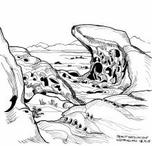 Graniterosion auf Wüstenquell