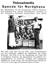 Scheckübergabe für Tongo, Uslar 1976