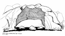 Der Bogenfels auf der Tinkas Hochfläche, 12.11.