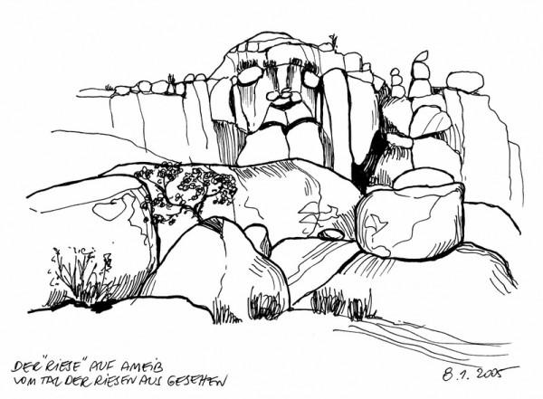 """Der """"Riese"""" im Riesen-Tal, 8.1.05"""