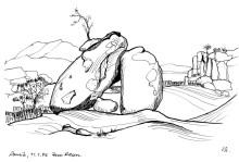 Blick durch die Felsen auf den Hohenstein, 11.1.06