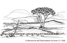 Alte Fundamente auf Ameib, 27.1.06
