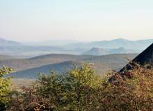 Ausblick von der Opuwo Lodge, 19.07.