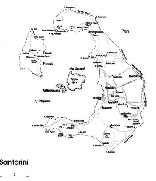 Die Kykladen Insel Santorini