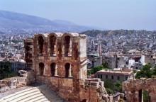 Blick vom Odeion auf Athen, 14.6.1991