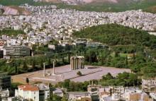 Blick auf den Zeus Tempel von der Akropolis, 6.9.
