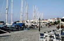 Auf der Hafenpromenade von Pythagorion, 30.5.1994