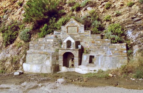 Trinkwasserstelle, unterwegs auf Karpathos, 5.6.
