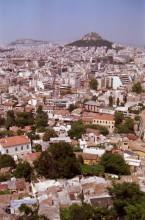 Blick auf den Lykabettos von der Akropolis, 14.6.1991