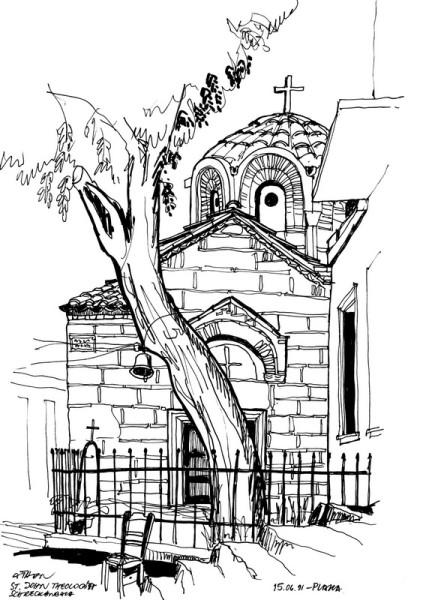 St. John Theologia in der Plaka, 16.6.1991