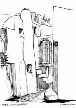 Architektur in Emborio,13.6.