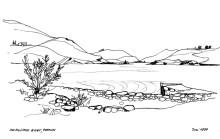Die Agriolivado Bucht auf Patmos, Juni 1994