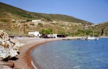 Die Lampi Bucht auf Patmos, 5.6.1994