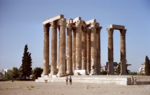 Der Zeus Tempel in Athen, 9.9.1992