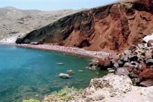 Die Rote Bucht bei Akrotiri, 15.6.