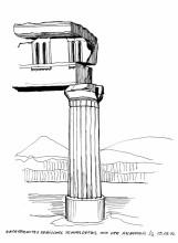 Säulendetails, Akropolis, Athen, 9.9.1992