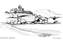 Die Bucht von Amopi im Süden von Karpathos, 11.9.