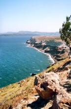 Blick auf die Balos Bucht unterhalb von Akrotiri,18.6.