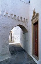 Gassen in Chora auf Patmos, Juni 1991