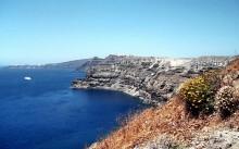 Blick auf die Kraterwand von Thira, 18.6.