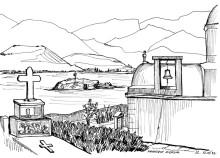 Auf dem Friedhof von Pigadia, 12.9.1992