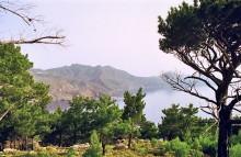 Blick in die Bucht von Mesochori, 10.6.
