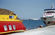 Im Hafen von Skala auf Patmos, Juni 1994