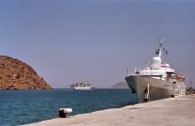 Der Hafen in Skala, Juni 1991