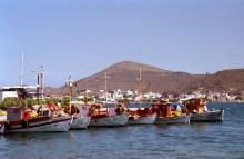 Im Fischerhafen, Skala auf Patmos, Juni 1991