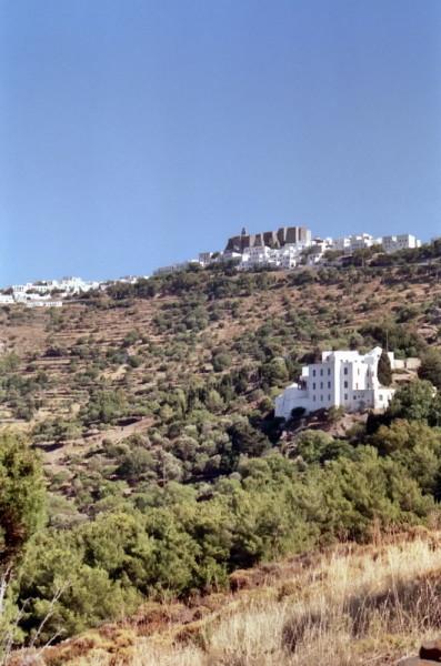 Auf dem Weg zum Kloster Apokalypse auf Patmos, Juni 1991