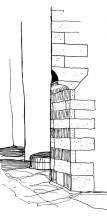 Eckenkonstruktion in Chora, 23.6.1991
