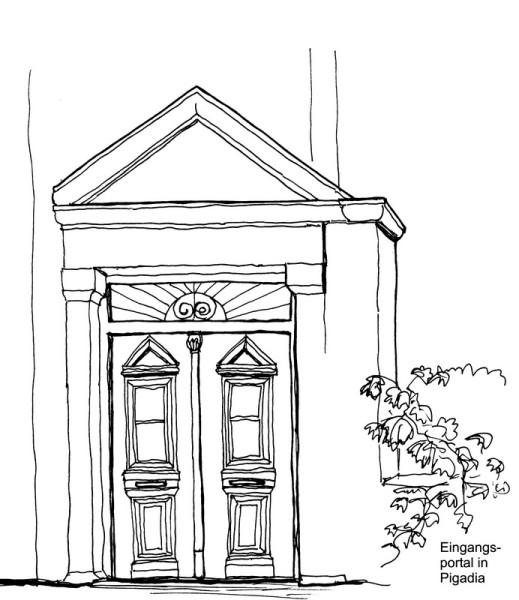 Eingangsportal in Pigadia, 17.9.1992
