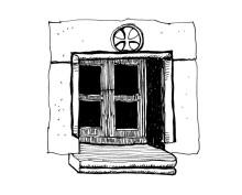 Fenstergestaltung in Chora, 23.6.1991