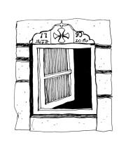 Fenstereinfassung in Chora, 26.6.