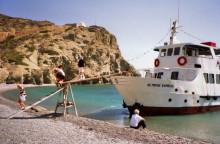 Aussteigen in der Agios Minas Bucht, 18.9.