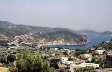 Die Diakofti Bucht auf Patmos, 10.6.1994
