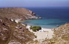 Die Psiliamos Bucht auf Patmos, Juni 1991