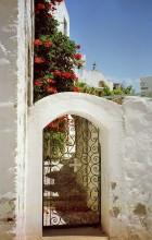 Eingang zum Frauenkloster auf Patmos, Juni 1994